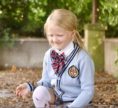 100% cotton cardigan children school uniforms wholesale
