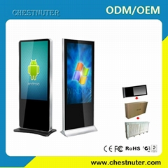 46 INCH android touch screen kiosk with Wifi/3G Advertising Player Digital Signa