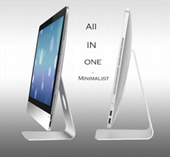 """made in china factory 21.5"""" quad core Intel i7 1080P all-in-one PC 4GB sata 500G"""