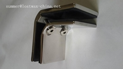 Stainless steel 90 degree square shaped glass clamps