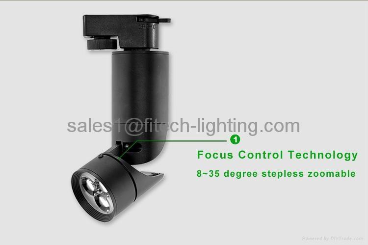 LED focusable track light 4