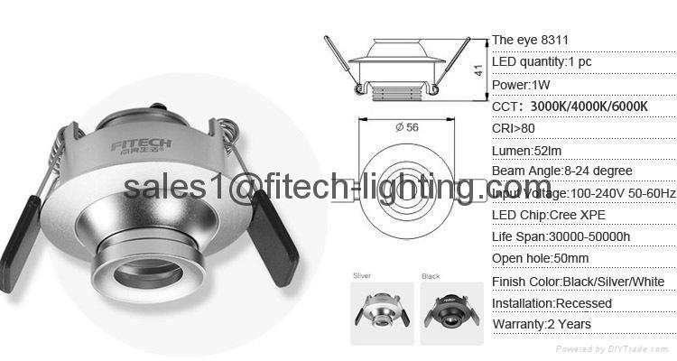 focusable spotlight downlight 2