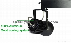 high power bridgelux cob led track light for interior design studio lighting