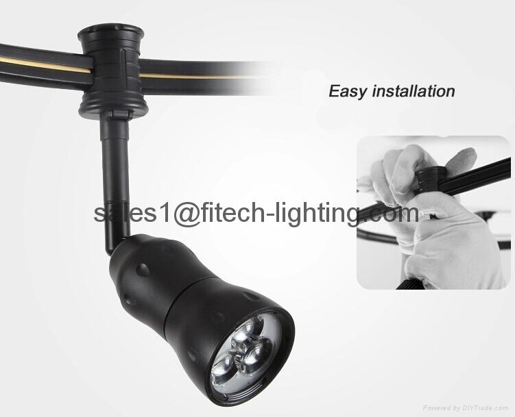 flexible led monorail track lighting adjustable beam focus for art gallery light 2