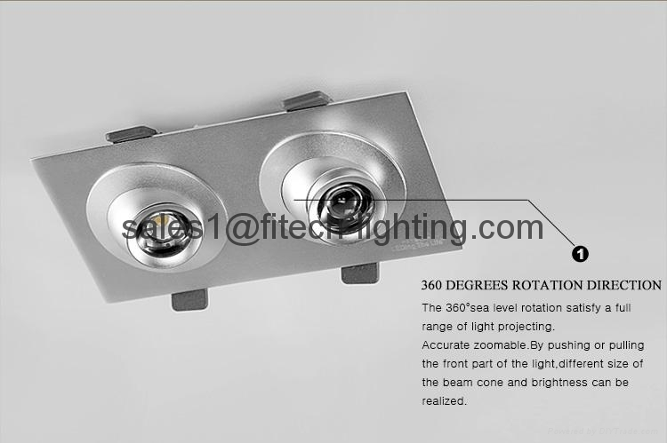 focusable spring clip led recessed lighting for paintings for work studio 4