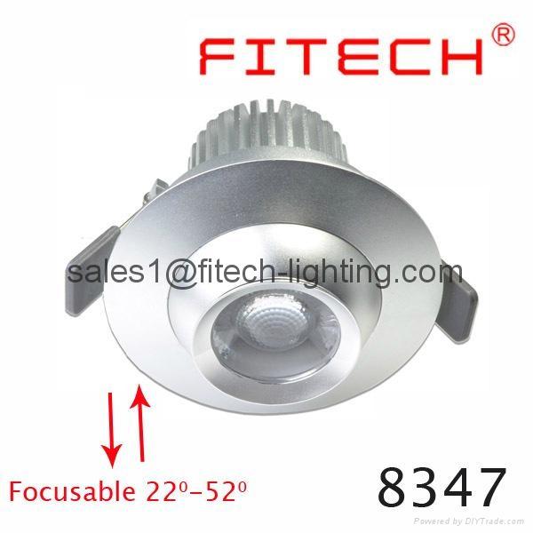 9W cob eyeball led under cabinet lighting adjustable beam angle for museum  1