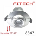 9W cob eyeball led under cabinet