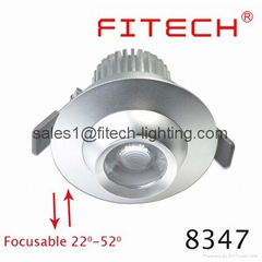 9W cob eyeball led under cabinet lighting adjustable beam angle for museum