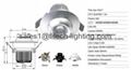 9W cob eyeball led under cabinet lighting adjustable beam angle for museum  4