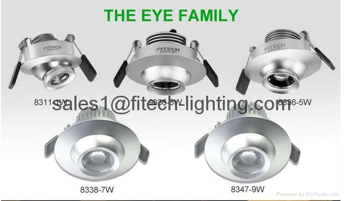 9W cob eyeball led under cabinet lighting adjustable beam angle for museum  5