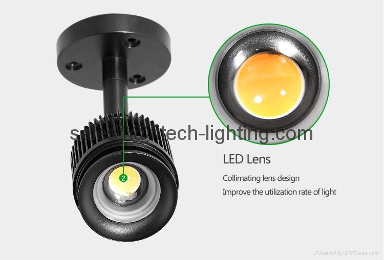 ceiling lighting zoomable surface mounted led ceiling light for art gallery 4W S 2