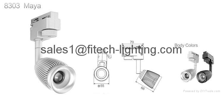 3w commercial cob led track light adjustable focusable for artwork spotlights 2