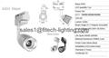 3w commercial cob led track light adjustable focusable for artwork spotlights 3