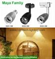 3w commercial cob led track light adjustable focusable for artwork spotlights 5