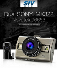 SIV-M9s Novatek96663+Dual Sony IMX322 Lenses Full HD 1080P With Front and Rear