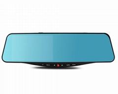 SIV M8 5.0Inch Rearview Mirror Dual Lens Novatek 96655 + AR0330/ Waterproof Lens