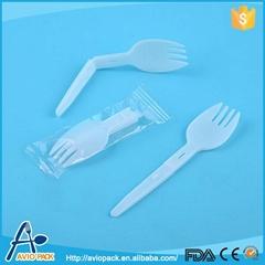 Plastic folding spork