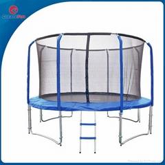 CreateFun Fiber Glass Fitness Round Trampoline with Safety Net