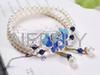 2016 New Arrival NEFFLY 925 Sterling Si  er Gorgeous 5mm Fresh Water Pearl lapis