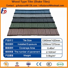 WOOD TYPE- STONE COATED ROOF TILE-50 YEAR LIFETIME