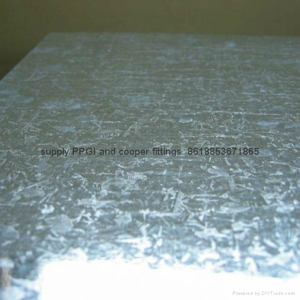 Large spangle ga  anized steel sheet 1