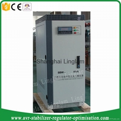 3 phase 50kva industrial ac voltage stabilizer