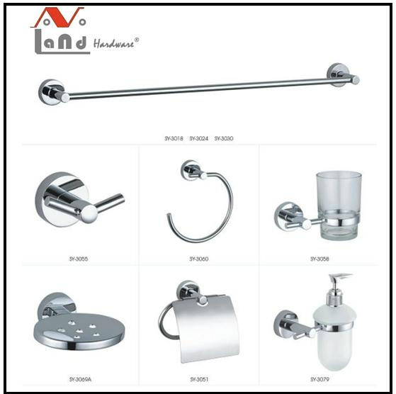 2016 Zinc  Alloy Material Towel Bar Robe Hook  Bathroom Accessories Set  1