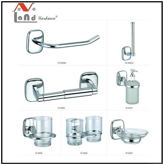 2016 Zinc  Alloy Material Towel Bar Robe Hook Bathroom Accessories Set  1