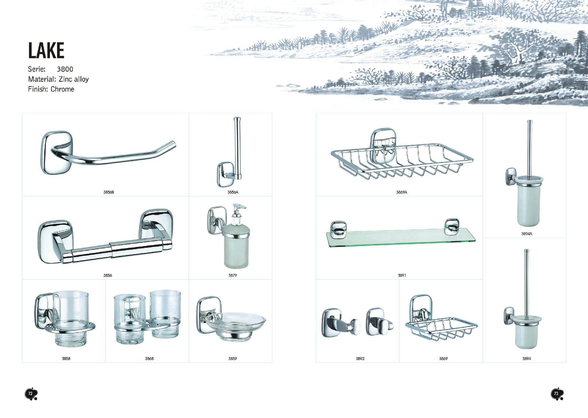 2016 Zinc  Alloy Material Towel Bar Robe Hook Bathroom Accessories Set  2