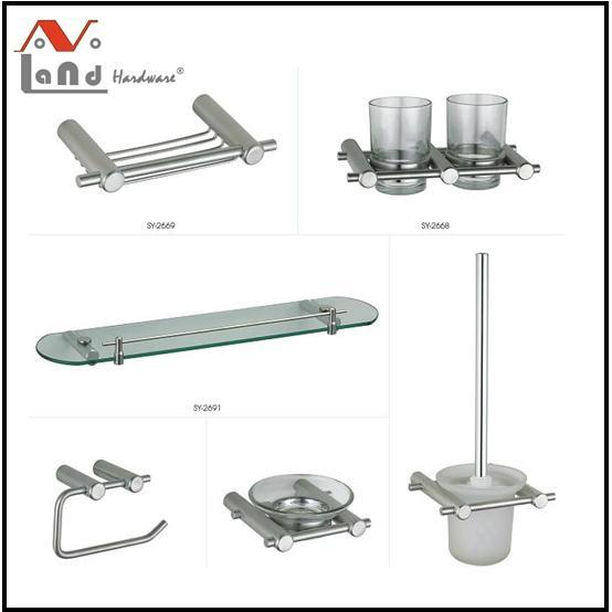 304 stainless steel  Material Towel Bar, Robe Hook, Bathroom Accessories Set  1
