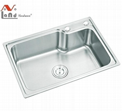 201ss High Quality Kitchen Sink with Size 650*450*220mm and Thickness 1.2mm