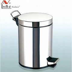 5L High Quality Stainless Steel Pedal Dustbin with Inner Plastic Bucket