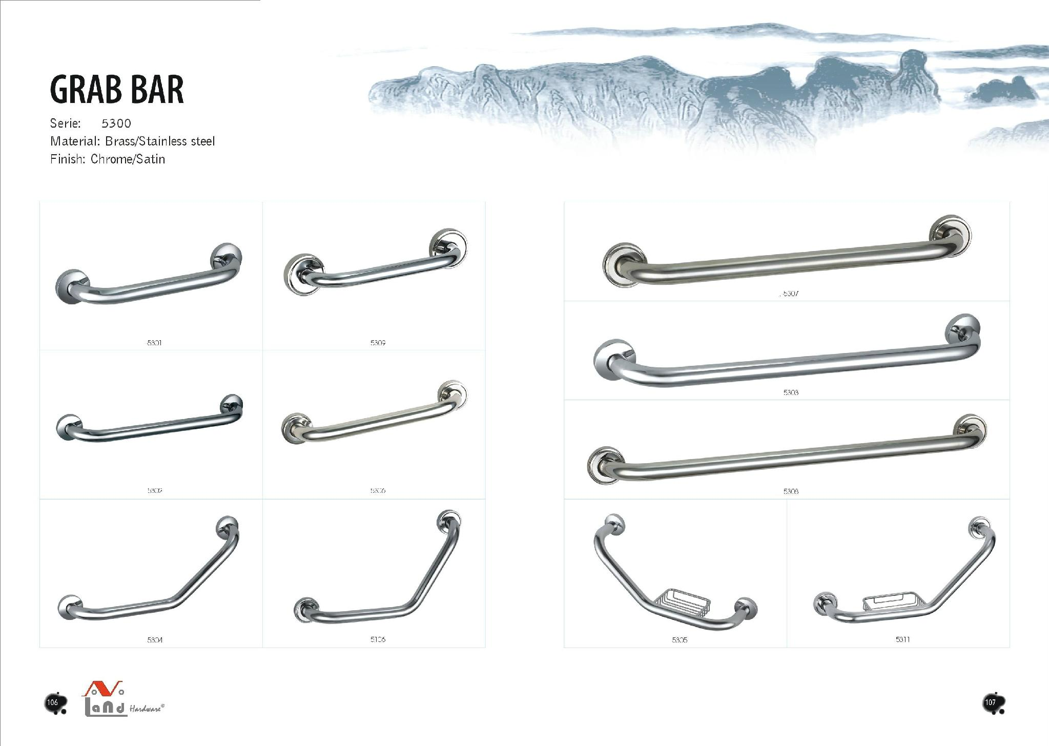 Ss304 Disabled Shower Safetly Grab Rail Grab Bar