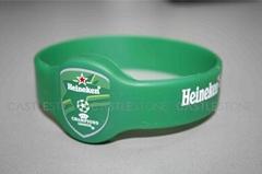 RFID wristband nylon PVC silicone disposable