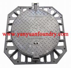 Ductile Foundry Cast Iron Decorative Manhole Cover