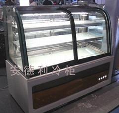 新品促销  HD-1.2A1F双弯蛋糕柜 安德利冷柜