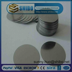 Pure Molybdenum Round Circle and Disc