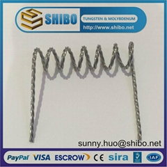 Super quality tungsten twisted wire in mirror industry