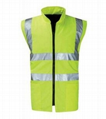 Men high vis reflective safety vest
