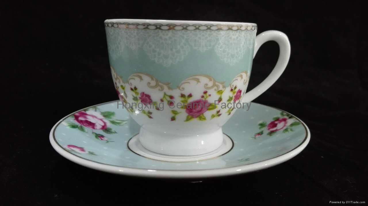 2016 newest ceramic cup tea cup and saucer china supplier wholesale 3