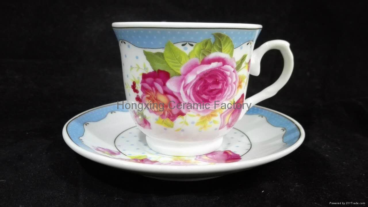 2016 newest ceramic cup tea cup and saucer china supplier wholesale 4