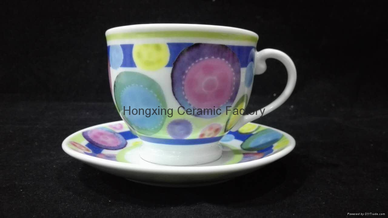 China Factory Wholesale Hot Sale Porcelain Cup&Saucer 1