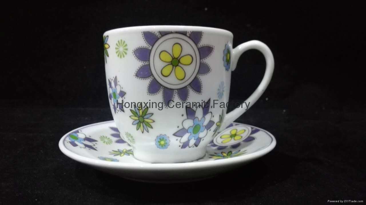 China Factory Wholesale Hot Sale Porcelain Cup&Saucer 5