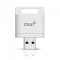 ZSUN Wireless Wifi USB Smart Card Reader WLAN New Arrival Mobile Phone Extend 2