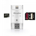 iReader 3 in 1 i-Flash Drive USB Micro SD SDHC TF Card Reader Writer for iPhone  4