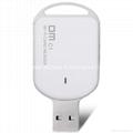 DM USB Wirless Wifi card reader Mini TF Card Reader for iOS Android Windows  1