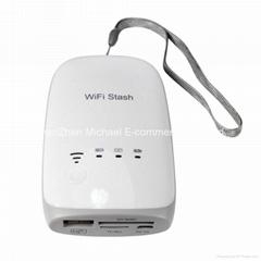 New USB Wireless WiFi Card Reader Built-in Powerbank for Ipad