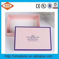 Folding cardboard box for underwear and socks customized pink gift box