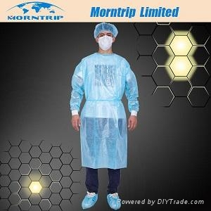disposable yellow isolation gown 1
