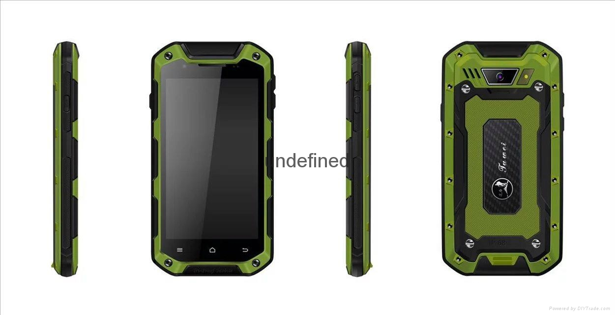 IP 67 2G/3G/4G Water Proof Android Smart Phone V12 3